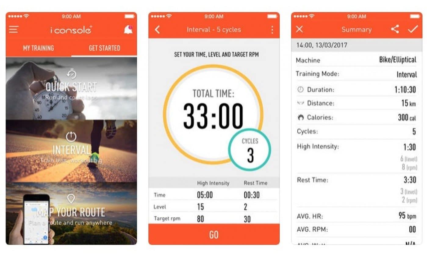 iConsole app til Abilica Stream motionscykel